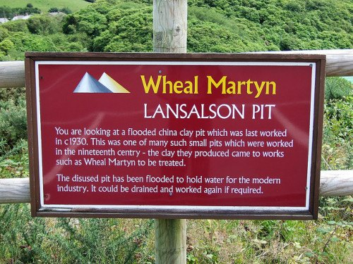 Museums in Cornwall - Wheal Martyn Sign