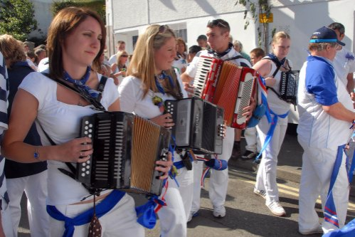 Obby Oss Festival Padstow by Brian Ledgard