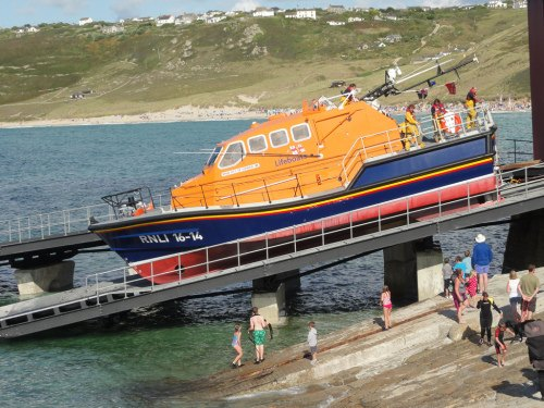 Cornwall Divers Guide Far West - Sennen Cove Lifeboat by Martyn Wright