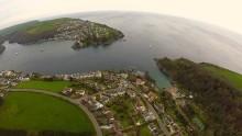 Fowey Harbour Aerial View