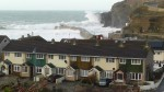 Storm watching Portreath Cornwall