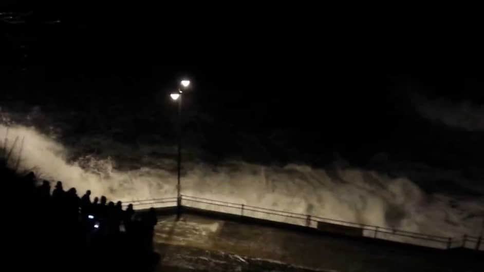 Storm watching in Newquay Cornwall